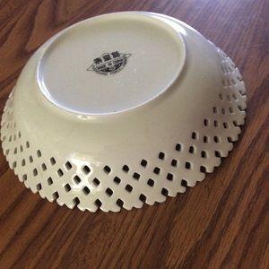 Vintage Kitchen - Vintage lace porcelain bowl fruit design +
